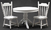 CLA91700 - White Table with 2 Chairs