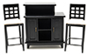 CLA91701 - Black Bar with 2 Chairs