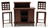 CLA91702 - Walnut Bar with 2 Chairs