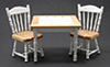 CLA91703 - Oak/White Table with 2 Chairs