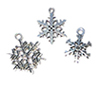 CLD203 - Silver Snowflake Ornament, 3pc