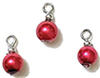 CLD207 - Red Pearl Ornaments, 3pc