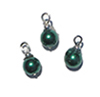 CLD208 - Green Pearl Ornaments, 3pc