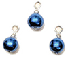 CLD209 - Royal Blue Pearl Ornaments, 3pc