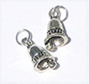 CLD2113 - Silver Bell Ornaments, 2pc