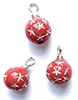 CLD2116 - Red Starburst Ornaments, Pkg. 3