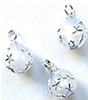 CLD2117 - Silver Starburst Ornaments, Pkg. 3