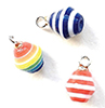 CLD2119 - Bright Stripe Ornaments, Pkg. 3