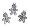 CLD216 - Silver Gingerbread Man Ornament, 3 PK