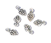 CLD225 - Silver Pinecone Ornaments, Pkg 6