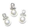 CLD226 - White Pearl Ornament, 3pc