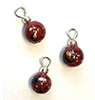 CLD228 - Burgundy Splatter Ornaments, Pkg. 3
