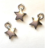 CLD229 - Silver Star Ornaments, Pkg. 3