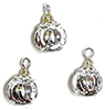 CLD235 - Silver Rings Ornament, Pkg. 3