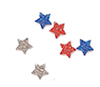 CLD307 - Red, Silver, Blue Stars Approx 50