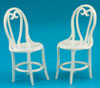 FCA2895WH - 2 Cafe Chairs, White