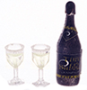 FR11161 - Champagne Bottle W/Two Glasses, Filled