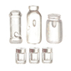 FR40001 - Assorted Bottles And Jars, 6/Pk