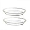 FR40129 - Pie Pan Set: 2-9In Clear Pans