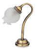 HW2792 - Desk Lamp Antique Gold with Frosted Fluted Globe