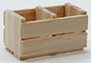 IM65047 - 6-Slat Wood Crate, Unfinished