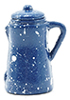 IM65079 - Spatterware Coffee Pot, Blue