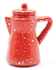 IM65081 - .Spatterware Coffee Pot, Red