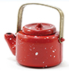 IM65085 - Red Spatterware Tea Kettle
