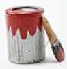 IM65112 - Paint Can and Brush Set, 2Pc, Red