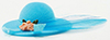 IM65181 - Ladies Hat with Feather, Turquoise