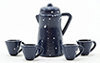 IM65200 - Blue Enamelware Coffee Set, 6/Pk