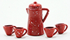 IM65205 - Red Enamelware Coffee Set, 6Pk