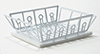 IM65266 - White Dish Drainer with  Mat