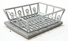 IM65267 - Silver Dish Drainer with  Mat