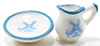IM65290 - .Pitcher & Bowl, White/Blue, 2pc