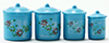 IM65302 - Blue Canister Set with Decals, 4pc