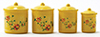 IM65306 - Yellow Canister Set with Decals, 4pc