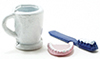 IM65386 - Set of Toothbrush, Cup, & Dentures, 3pc
