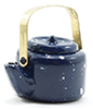 IM65397 - Blue Spatterware Tea Kettle