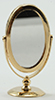 IM65625 - Brass Table Mirror,2In