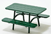IM65629 - Green Picnic Table, Half Scale