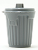 IM65631 - Gray Trash Can - Lid Opens