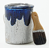 IM65645 - Paint Can and Brush Set, Blue