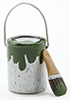 IM65646 - Paint Can and Brush Set, Green