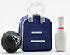 IM67062 - Blue Bowling Bag with Ball and Pin