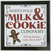 KCMXM12BLK - Christmas Milk & Cookies Picture, 1 Piece, Black Frame