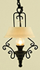 MH1035 - Ornate Hanging Kitchen Lamp