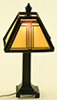 MH1045 - Craftsman Tiffany Lamp, Black