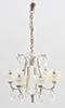 MH1051 - Contemporary Crystal Drop Chandelier, Ivory