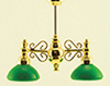 MH45137 - Billiard Chandelier W/Green Shade 12V